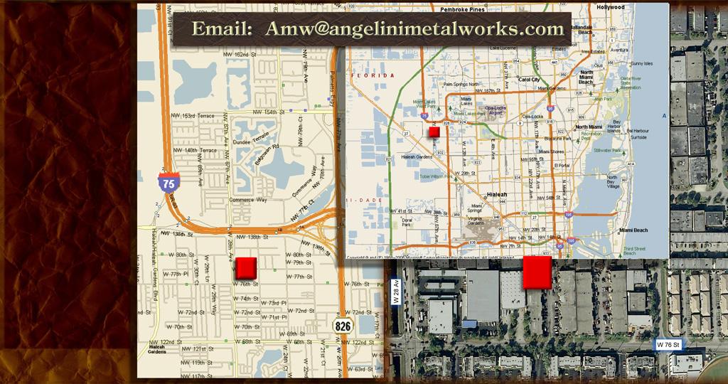 Angelini Metal Works Find Us - Us metalworks map